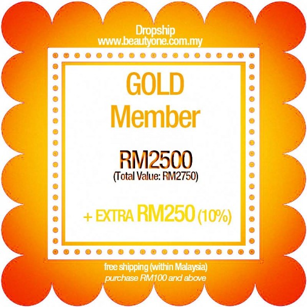 Gold (Extra RM250 + Free Shipping)