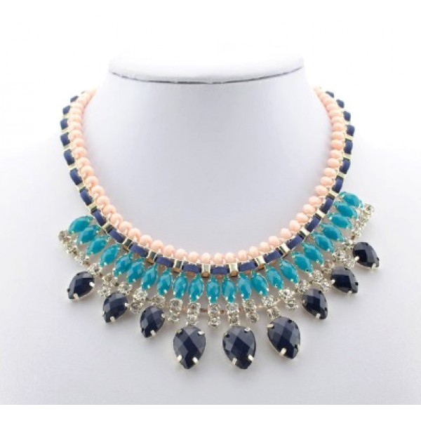 Colurful Spring Short Necklace