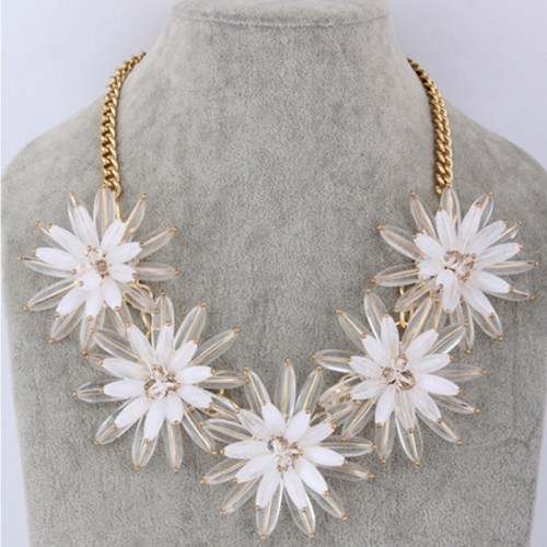 Three Dimensional Flower Necklace