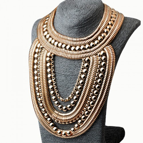 Gold Tribal Fancy Necklace
