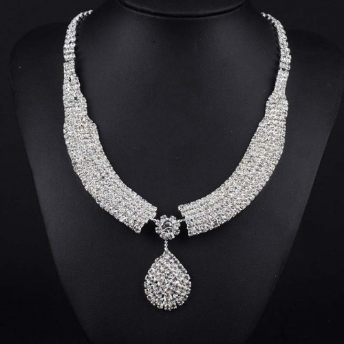Rhinestone Bridal Wedding Necklace-ASD10