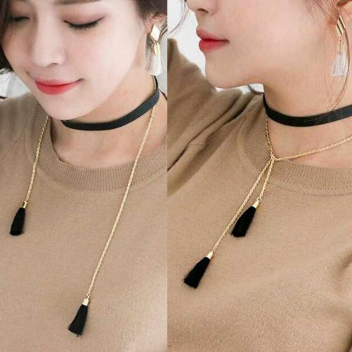 Tassel Choker (Two Ways)