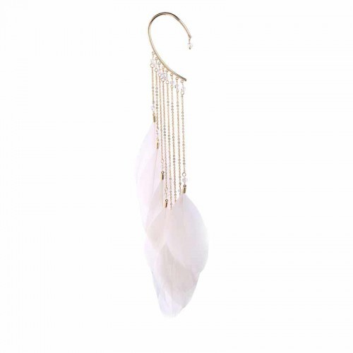 White Feather Ear Hook
