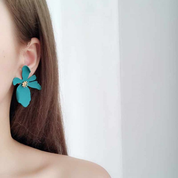 Daisy Ear Ring (Green)