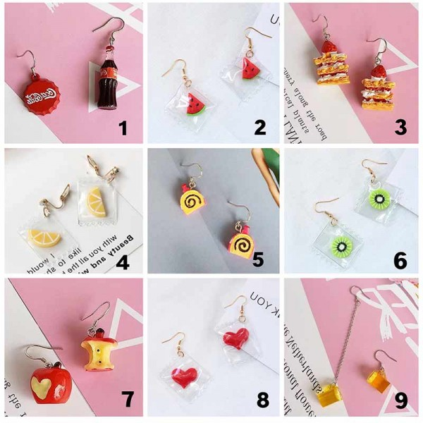 Instagramable Foodie Ear Ring (Pick 3 Pairs)