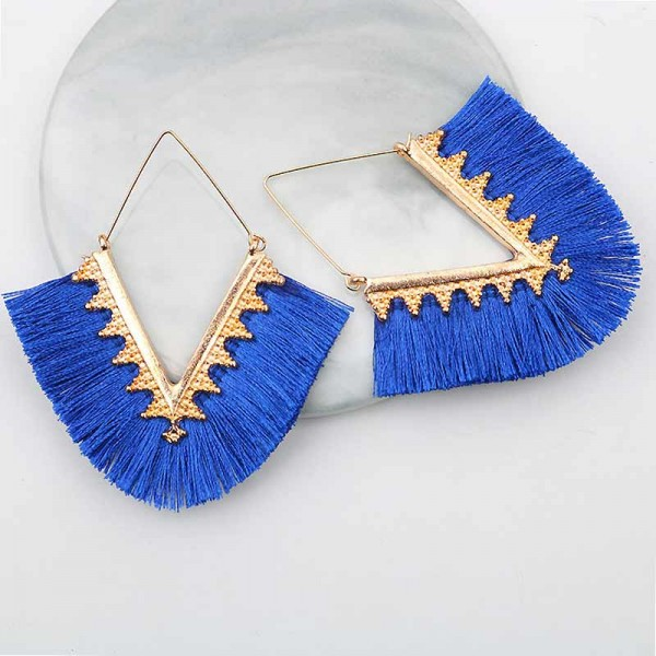 Tribal Inspired Ear Ring (Blue)