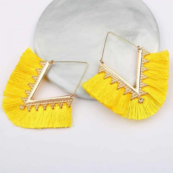 Tribal Inspired Ear Ring (Yellow)