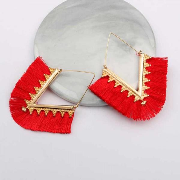 Tribal Inspired Ear Ring (Red)