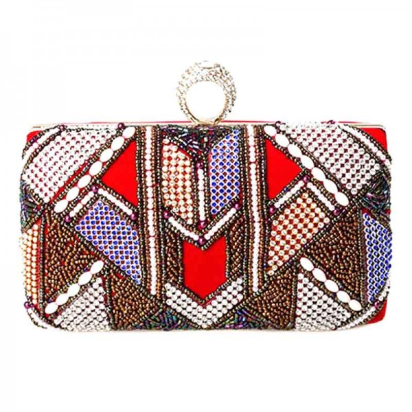 Colourful Beaded Clutch