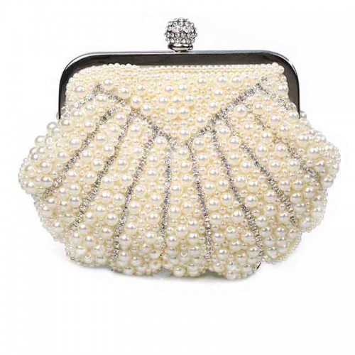 Beaded Pearl Clutch
