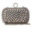 Black Rhinestone Rectagular Clutch