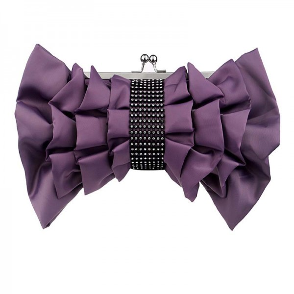 Purple Ribbon Clutch