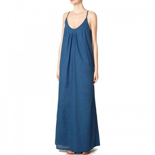 Blue Singlet Long Dress (Size S,M)