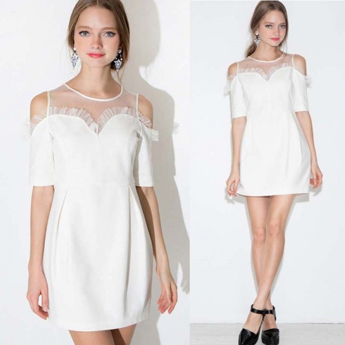 Sheer Mesh Sweet Heart Dress
