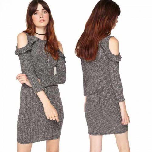 Ruffle Long Sleeved Dress