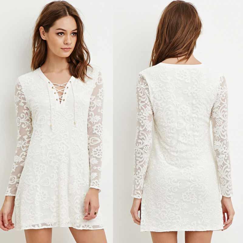 Long Sleeved Blouse Dress 10