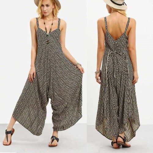 Wide Strappy Jumpsuit (Size M,L)