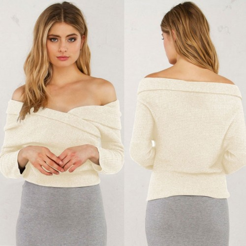 Off Shoulder Long Sleeved Top (Size S,M)