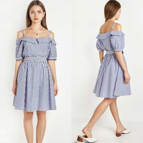 Off Shoulder A Line Dress