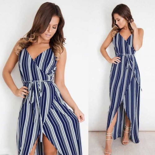 Maxi Stripe Dress (Szie M,L)