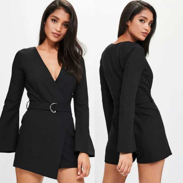 Long Sleeved Sexy Playsuit