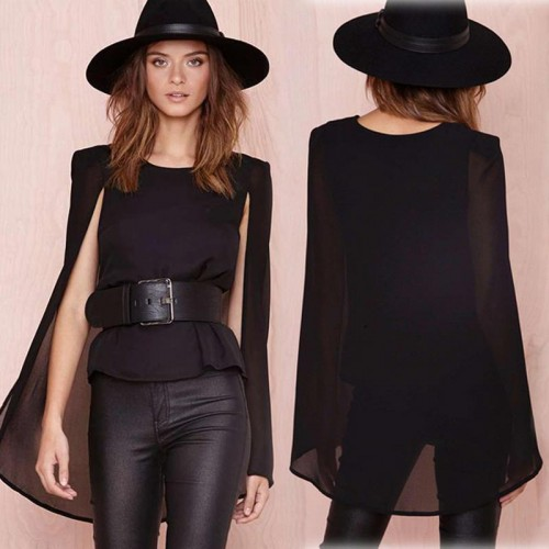 Black Cape Liked Top
