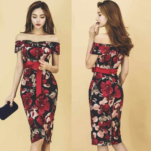 Floral Pencil Dress (Size S, M)