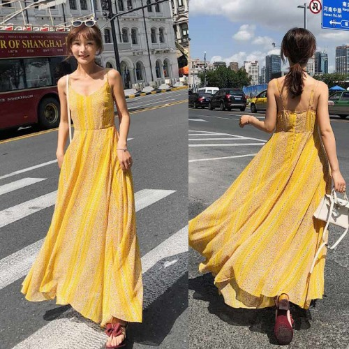 Summer Yellow Long Dress