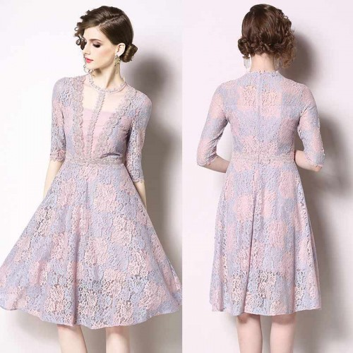 Long Sleeves Romantic Lace Dress