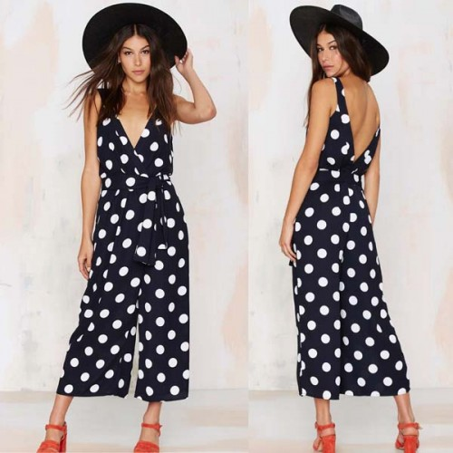Polka Dot Quarter Playsuit