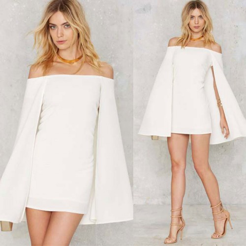 Off Shoulder Cape Dress
