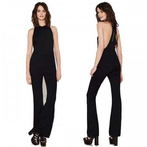 Sexy Back Halter Jumpsuit