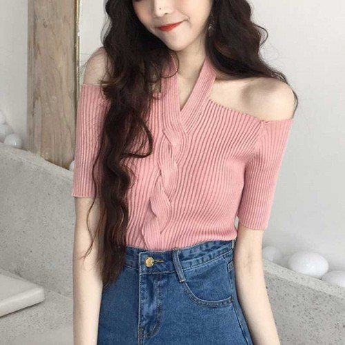 Hang Neck Top (Pink)