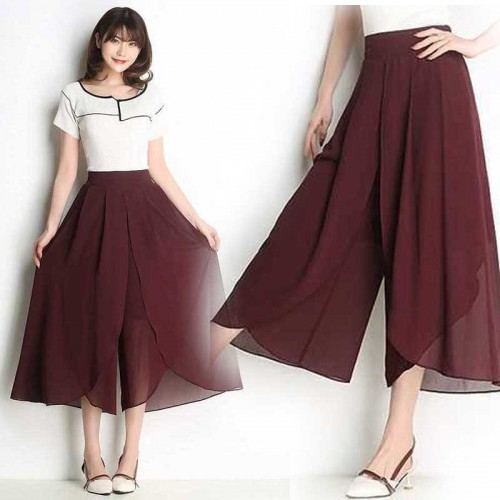 Quarter Palazzo Pants (Red)