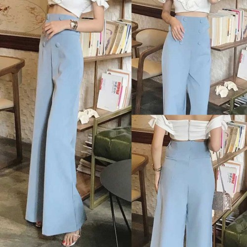 High Waist Pants (Blue)