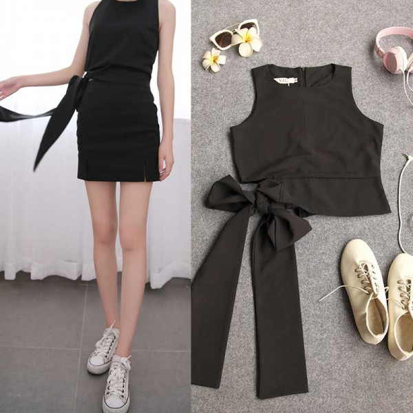 Ribbon Top (Black)