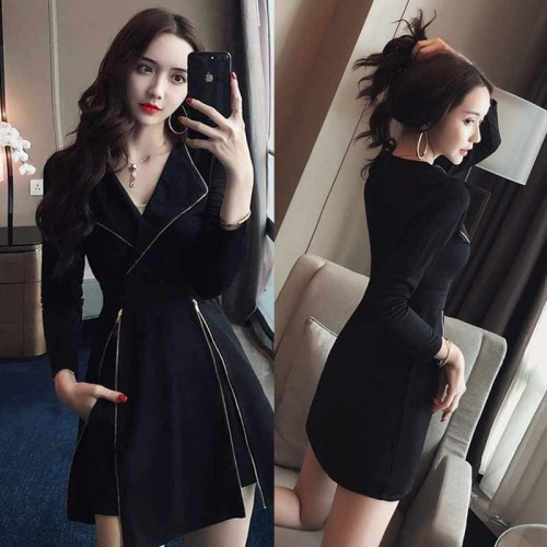 Two Pieces Coat Dress (with Pants)