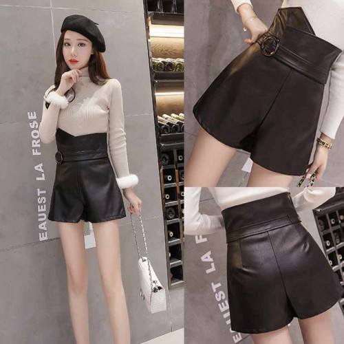 PU High Waist Pants