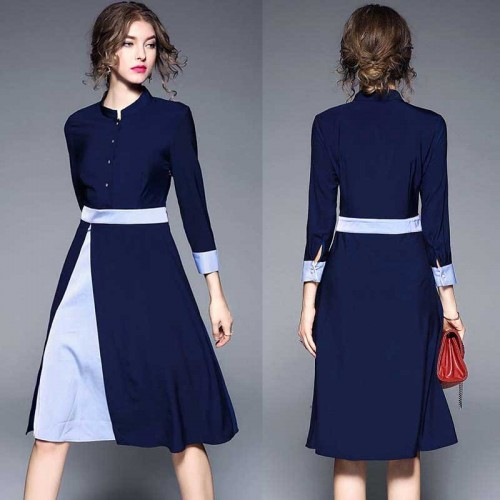 Quarter Sleeved Collar Dress