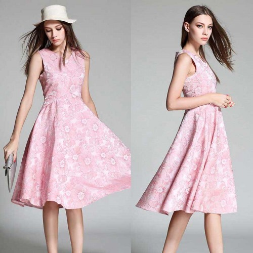 Baby Pink Umbrella Dress
