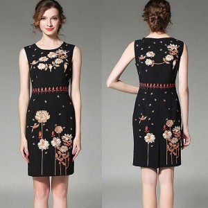 Floral Embroidered Pencil Dress