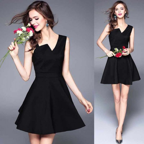 Black Short Umbrella Dress
