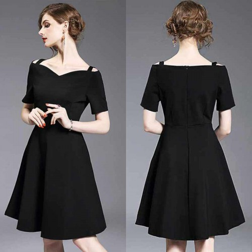 Off Shoulder Elegant Black Dress
