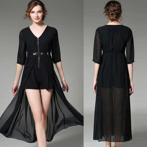 Dress Liked Romper (FREE Belt) (Size S,M)