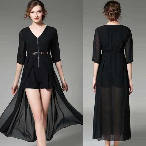Dress Liked Romper (FREE Belt) (Size S,M)
