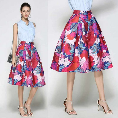 Floral Umbrella Skirt (FSAT66) (Size M,L)