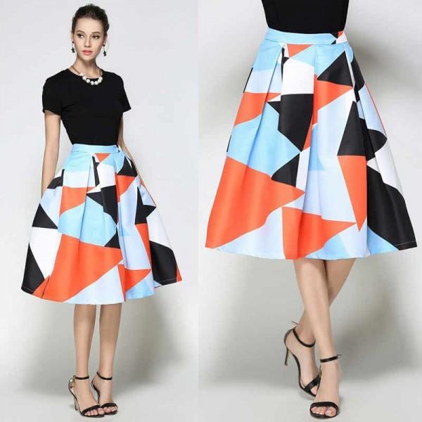 Floral Umbrella Skirt