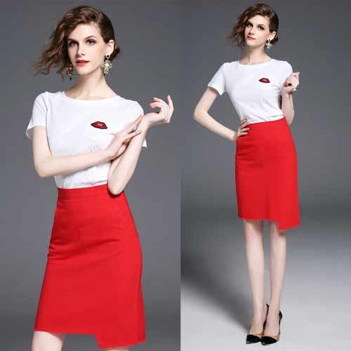 Two Piece Pencil Skirt
