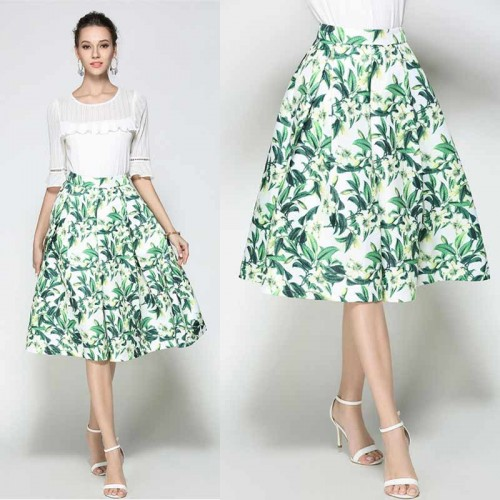 Floral Umbrella Skirt