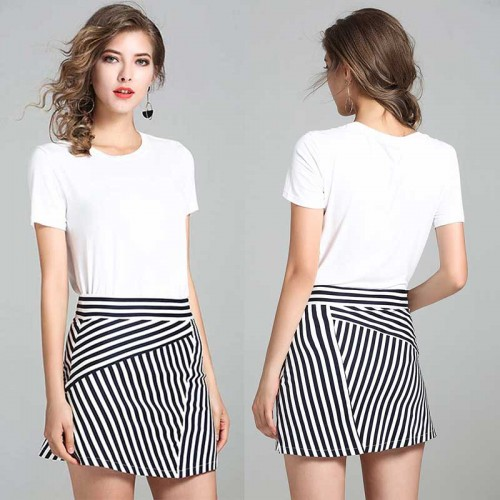 Two Pieces Stripy Set